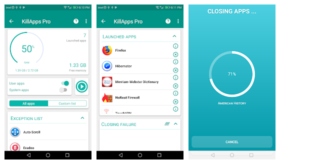 Best Close all  running App in Android