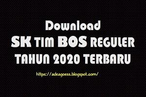 Download SK TIM BOS REGULER TAHUN 2020 TERBARU