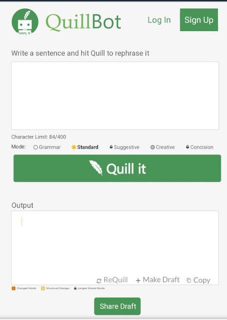 ما هو رابط موقع كويل بوت QuillBot عربي