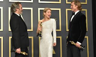 Joaquin Phoenix, Renée Zellweger y Brad Pitt, Oscars 2020