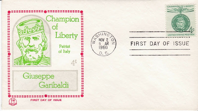 USA FDC Giuseppe Garibaldi