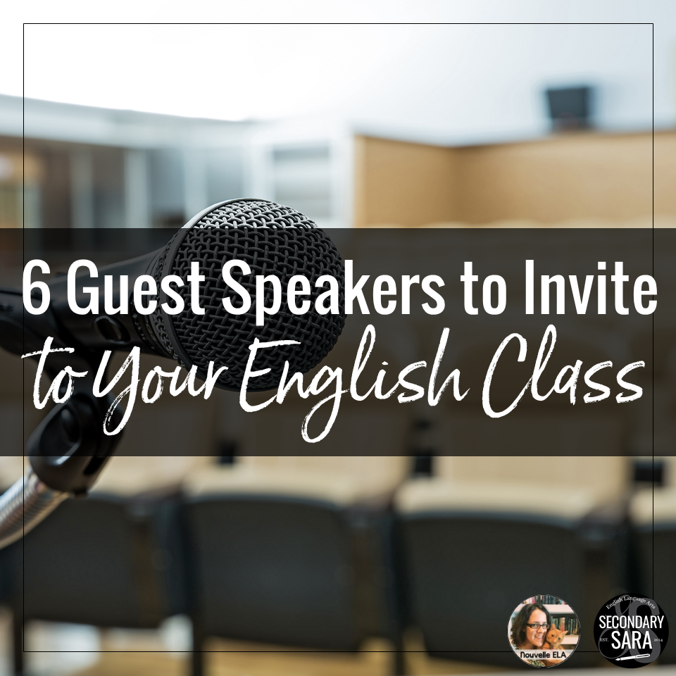 6 guest speakers to invite to your english class secondary sara 6 guest speakers to invite to your english class altavistaventures Gallery