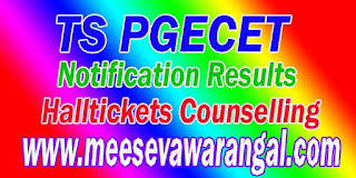 Telangana TS PGECET 2018 Hall tickets Admit card Download