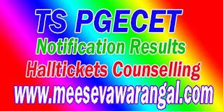 TSPGECET Telangana TS PGECET  Halltickets Admitcard Download