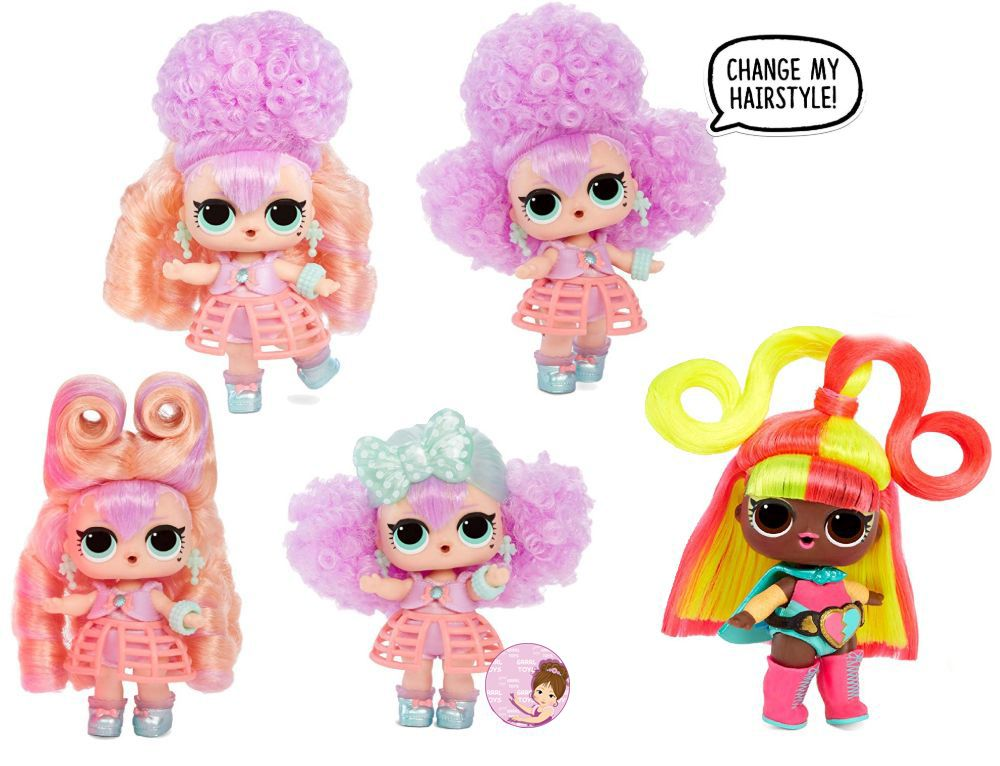 L.O.L. Surprise dolls with mix & match hair #hairvibes