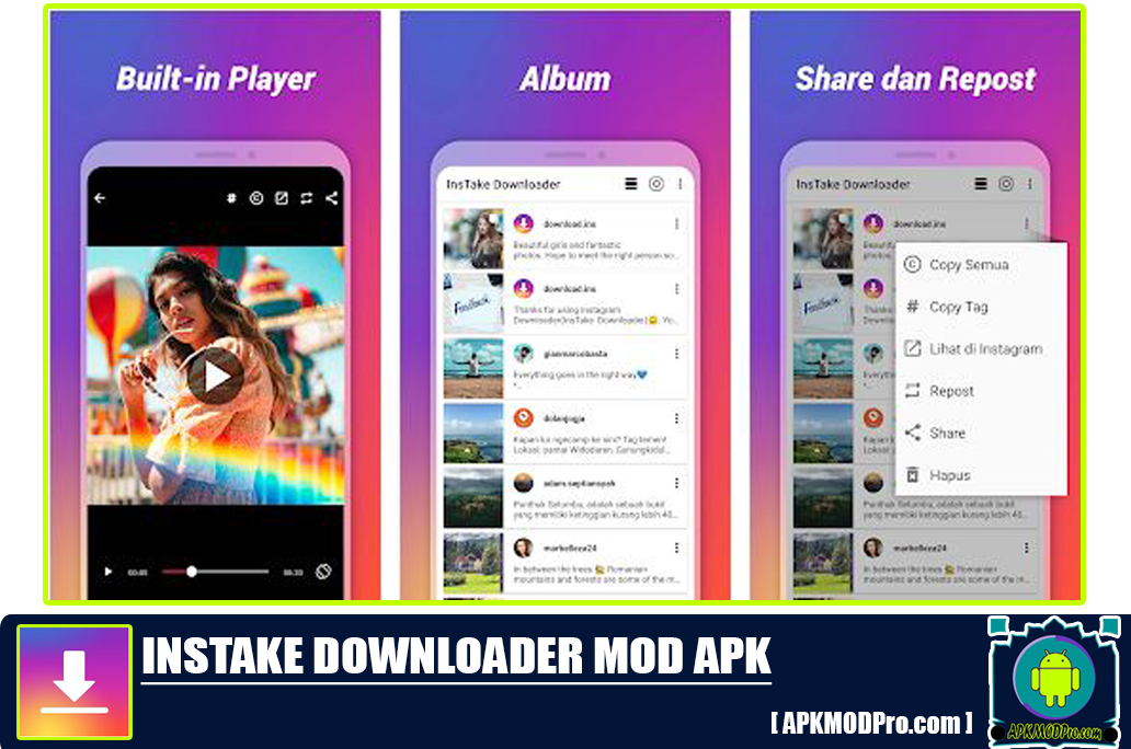 Download Foto & Video Downloader Instagram APK [MOD No Ads] Versi terbaru 2020