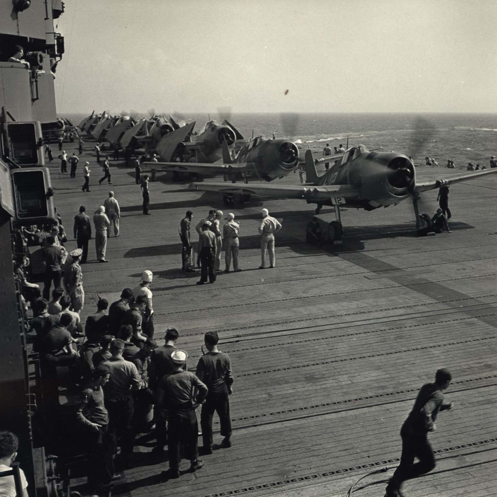 Aircraft Taking Off of Carrier, c. 1943.
