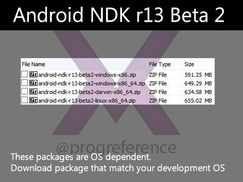 Android NDK r13 Beta 2 Direct Download