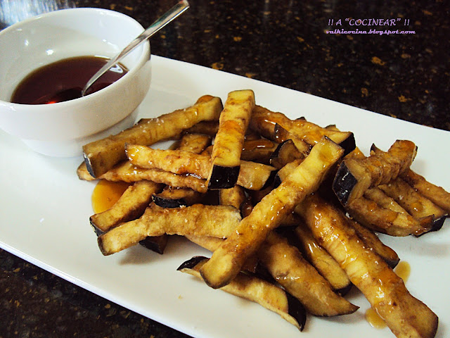 Berenjenas fritas con miel
