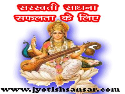 saraswati sadhna in hindi