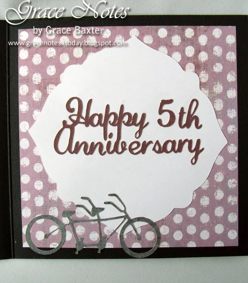 5th. Anniversary Card, greeting
