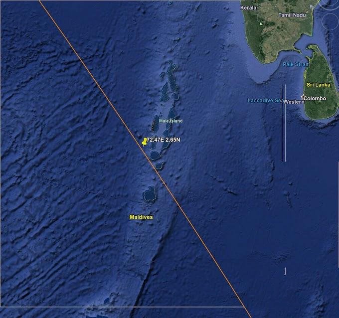 🔴 بقايا الصاروخ الصيني تسقط في المحيط الهندي.