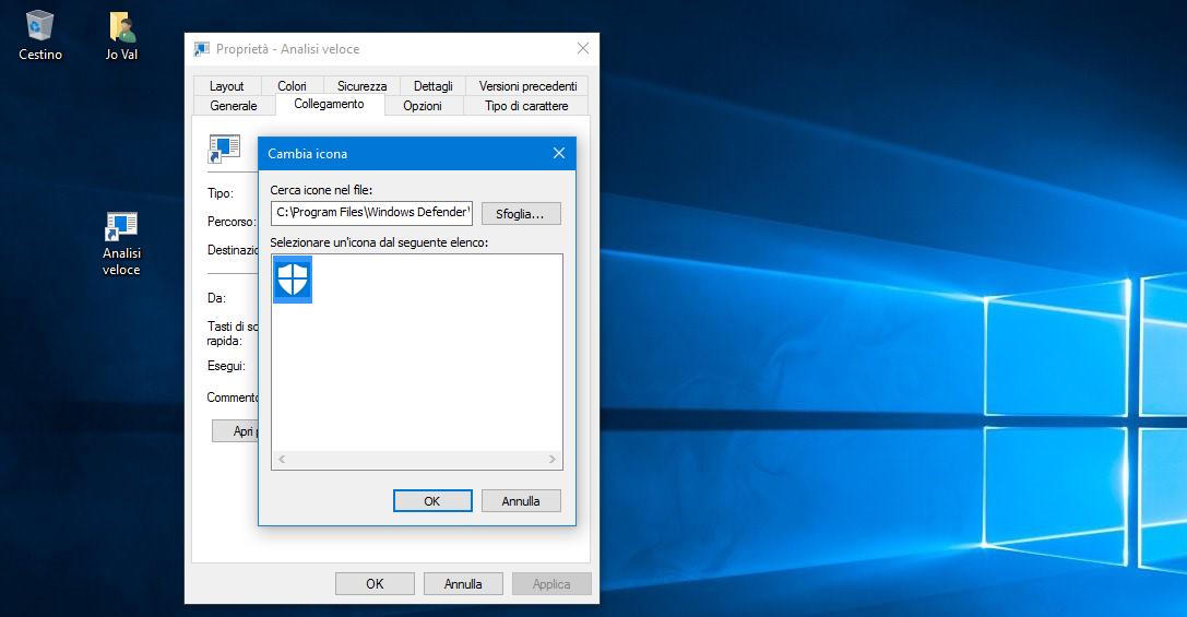 Collegamento per avviare una Scansione veloce con Defender in Windows 10 HTNovo 5