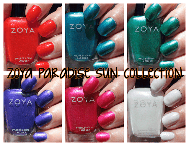 Swatches and review of the Zoya Paradise Sun Collection