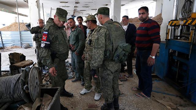 Militares rusos hallan en Duma un laboratorio de los milicianos para la producción de armas químicas
