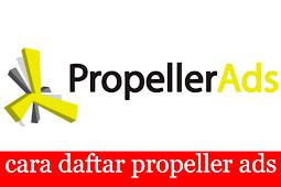 Di tolak google adsense tenang ada propellerads