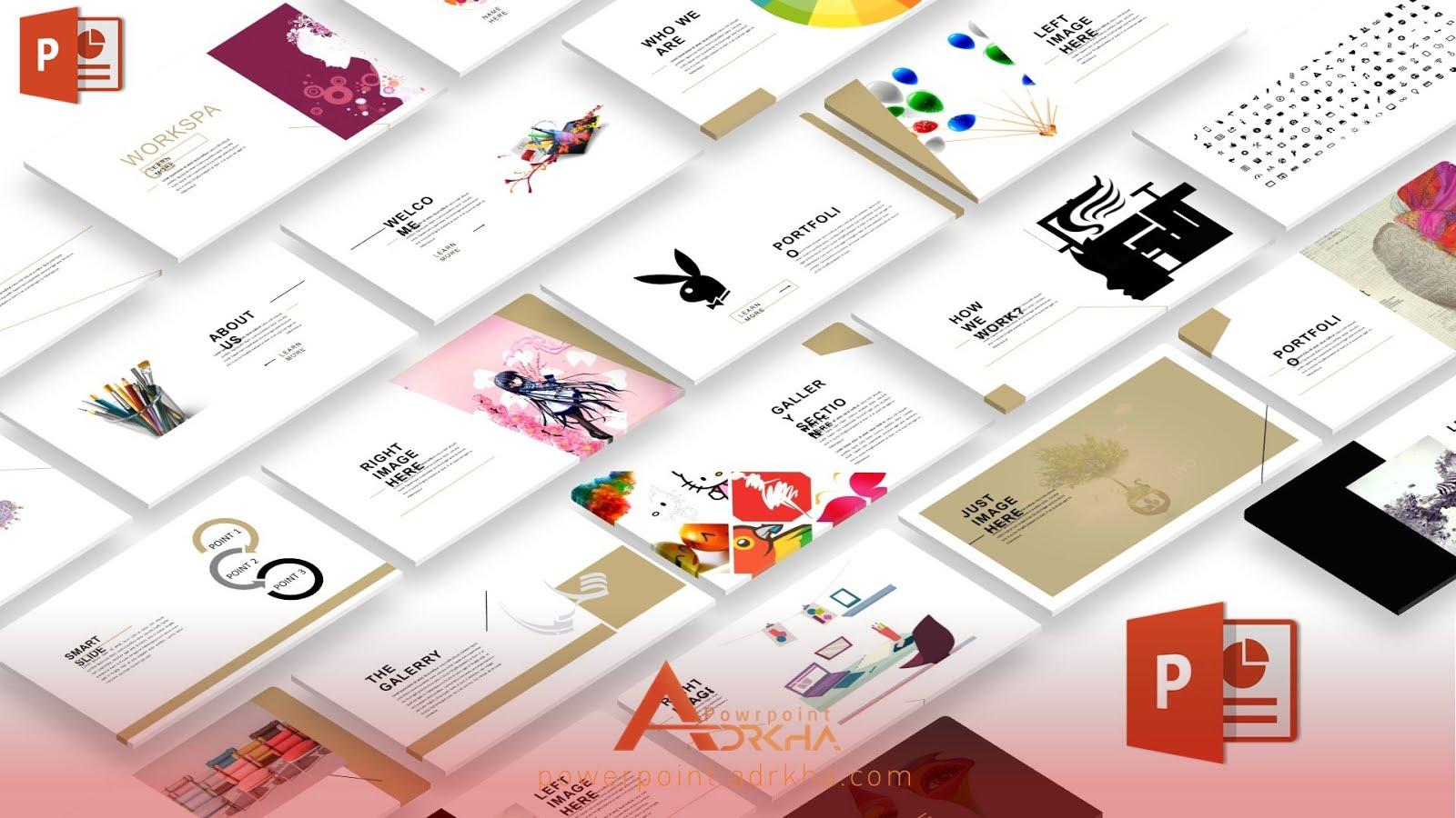 عرض باوربوينت جديد لعرض التصميمات الخاصة 2018