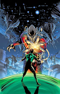 Hal Jordan faces the monstrous Relic on the cover of Green Lantern 24.