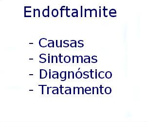Endoftalmite causas sintomas diagnóstico tratamento prevenção riscos complicações
