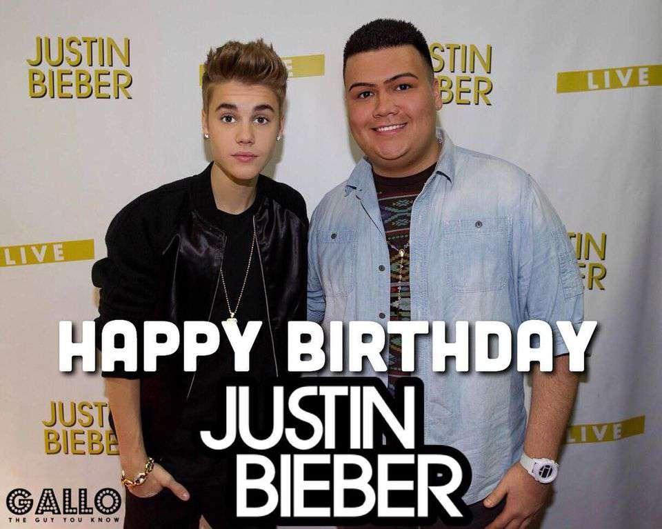 Justin Bieber's Birthday Wishes Beautiful Image