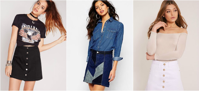 3 different ways to wear denim skirts