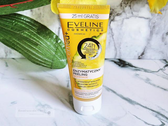Eveline Facemed + Enzymatyczny peeling gommage 3 w 1, eveline cosmetics peeling enzymatyczny, peeling ananasowy eveline cosmetics, peeling enzymatyczny, cera wrażliwa, cera naczynkowa, cera problematyczna, rodzaje peelingu, co to jest peeling, właściwości peelingu, kwadrans dla ciebie,
