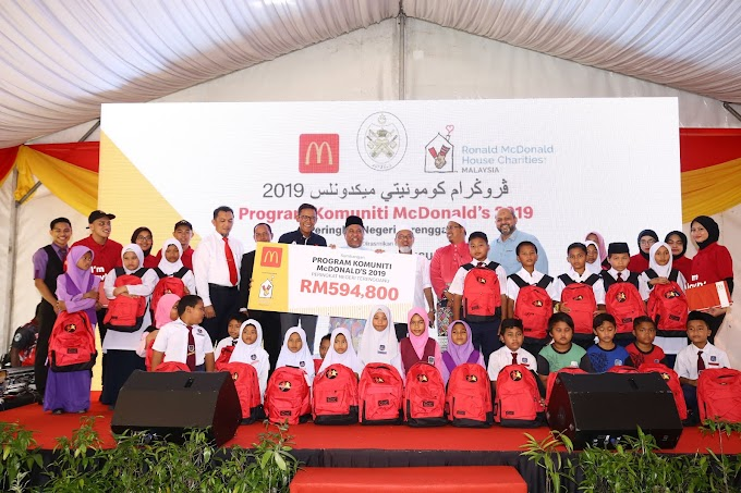 Lebih RM590 Ribu Disumbangkan Dalam Program Komuniti McDonald's Bantu Rakyat Pantai Timur