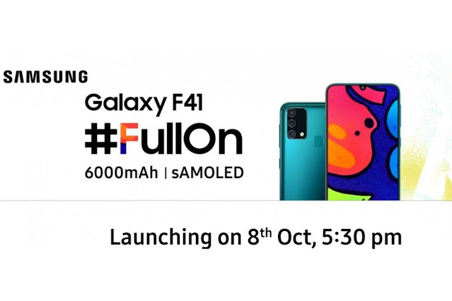 Samsung Galaxy F41 Specs and Launch Date Revealed