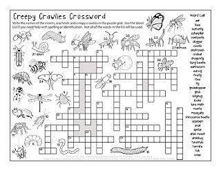 The Puzzle Den - Creepy Crawlies Crossword