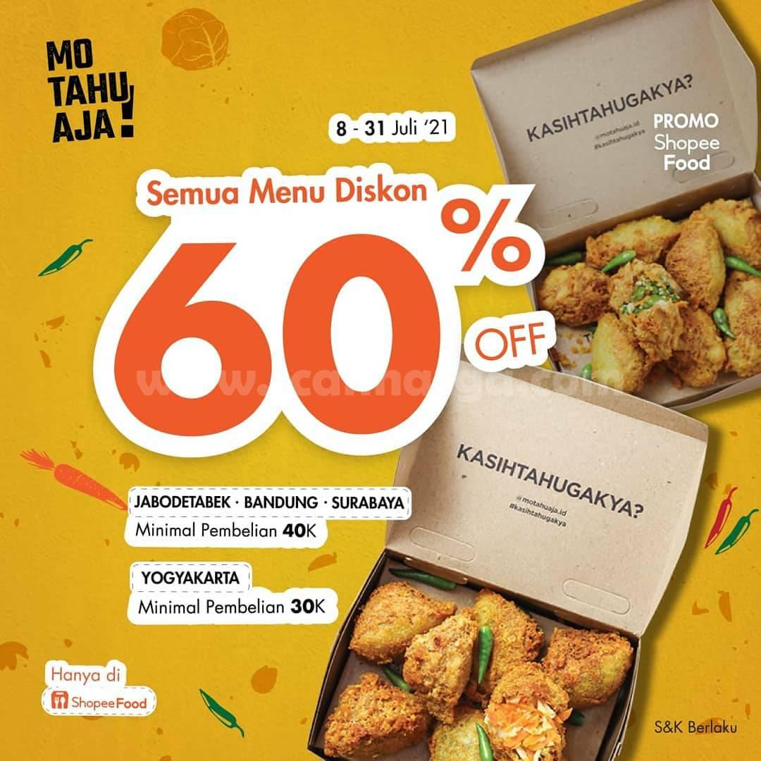 Promo MO TAHU AJA DISKON 60% Bareng ShopeeFood