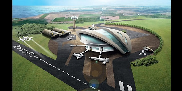 Spaceports, like this artist's rendition, could soon be operational all around the UK. Credit: SWNS.com