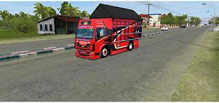 download mod bussid truck canter terpal segitiga