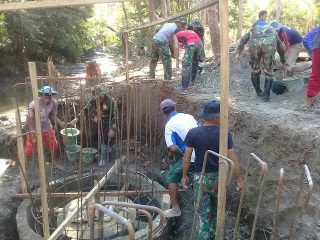 Rakyat dan TNI Semakin Bersemangat di Kegiatan TMMD Kodim 1415/Kep Selayar
