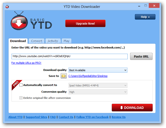 YTD Video Downloader Free Download | MGSOFT - Free software