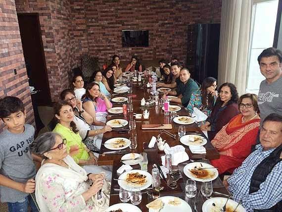 Salman Khan and Aayush Sharma's family at lunch