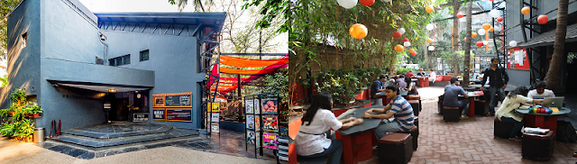 Prithvi Theatre Entrance and coffee shop