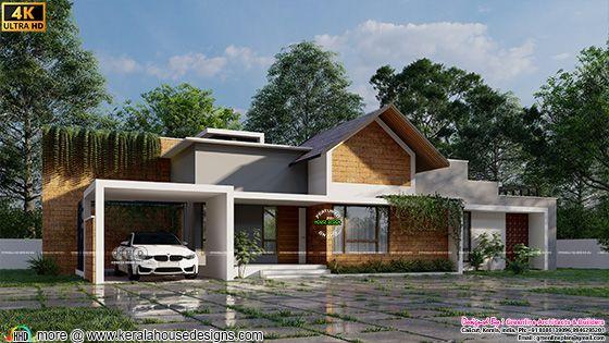 One floor tropical home design
