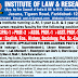 14 posts of Assistant Professor (Law) at Institute of Law & Research, Faridabad