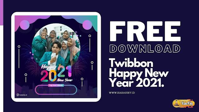 twibbon happy new year 2021