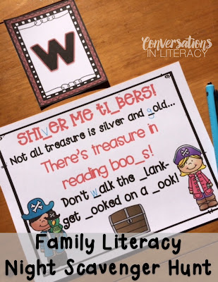 Family Literacy Night Scavenger Hunt