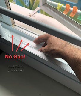 not gaps between the window and the grill to keep pest out