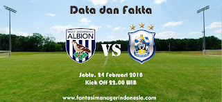 Data dan Fakta Fantasy Premier League GW 28 West Bromwich Albion vs Huddersfield Fantasi manager Indonesia