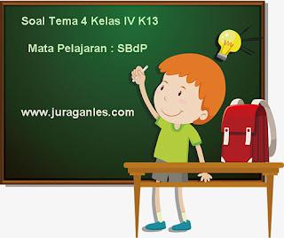 Contoh Soal Tema 4 Kelas 4 SD/MI Kurikulum 2013 Mata Pelajaran SBdP