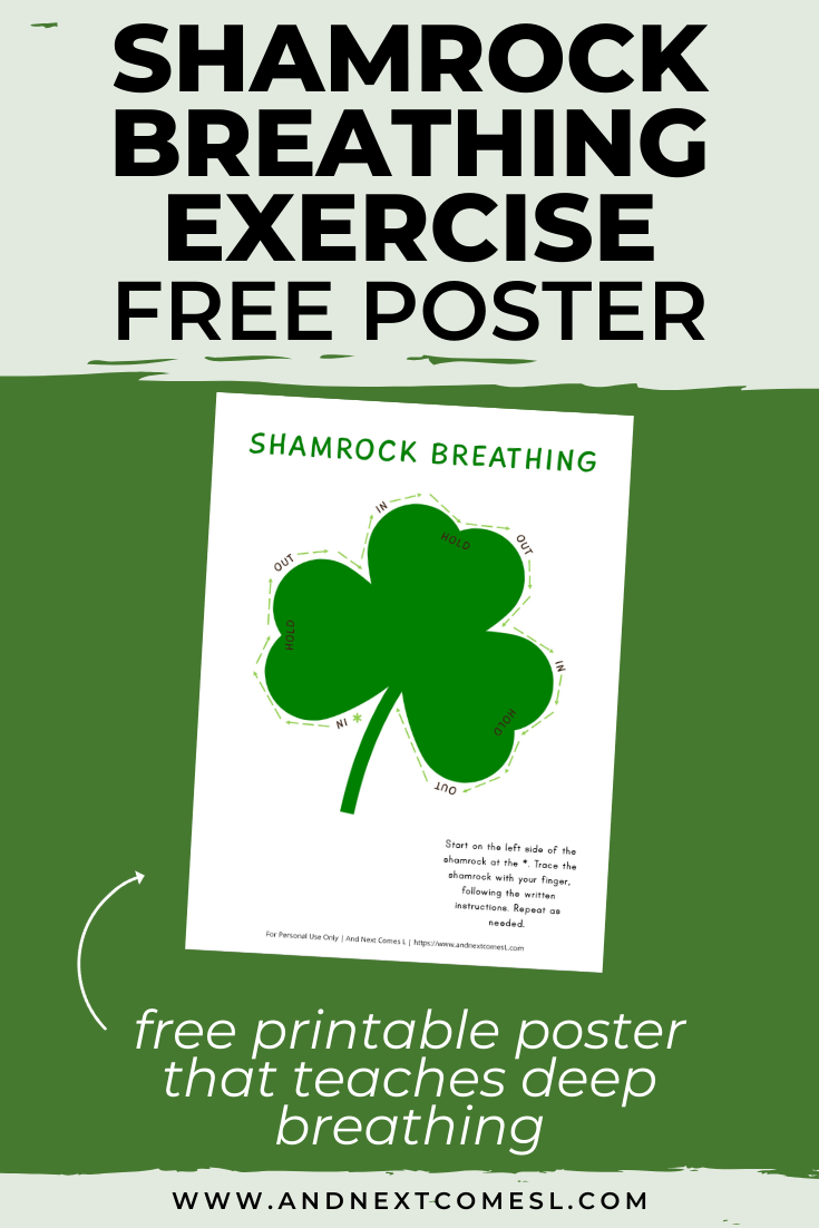 Free deep breathing printable for kids that's perfect for St. Patrick's Day