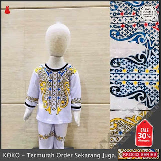 KKO32 OLT435 Pakaian Setelan Baju Koko Anak Bahan Katun Murah BMGShop