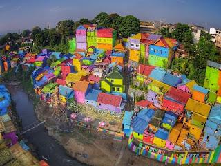Kampung Wisata Warna Warni Jodipan Malang