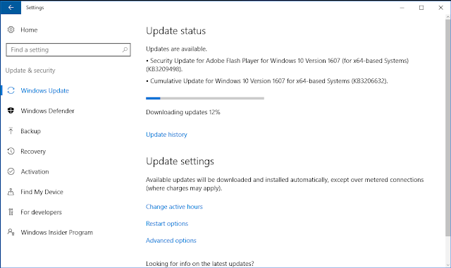 Bản cập nhật tích lũy KB3206632 cho Windows 10 phiên bản 1607 xây dựng 14393.576