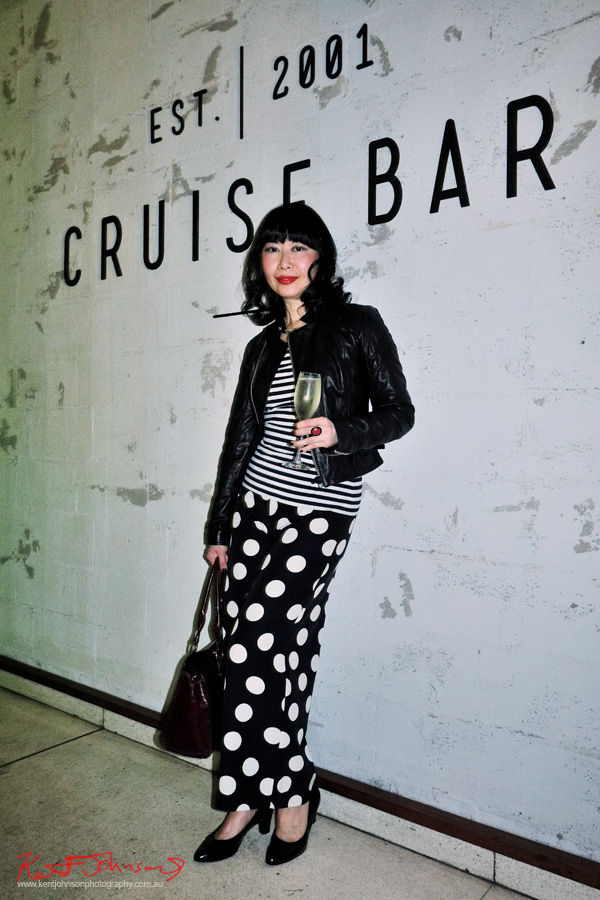 vialaViv blogger Vivienne Shui at the Cruise Bar re-launch party. Photography by Kent Johnson - Street Fashion Sydney.