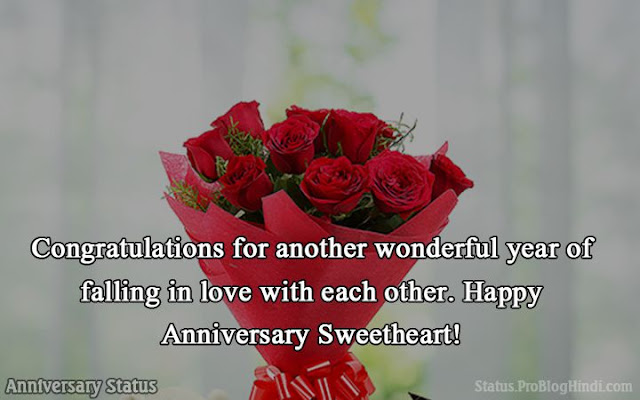 anniversary status in english