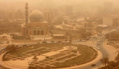 عواصف ترابية في طقس العراق